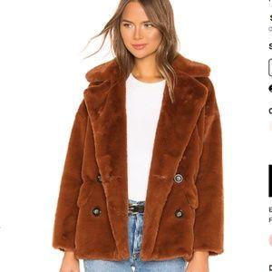 Free People Kate Faux Fur Coat - NEW!